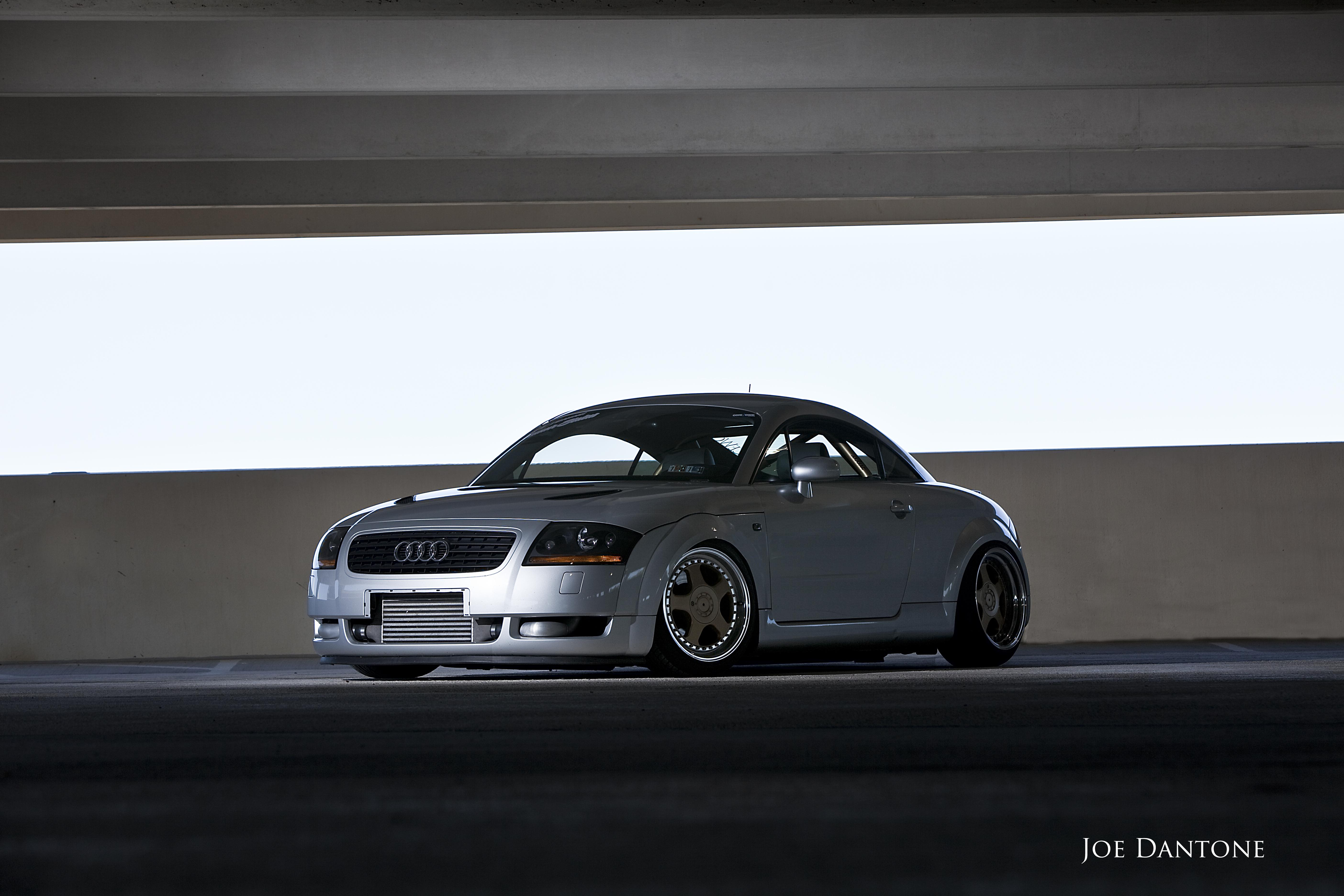 rocks this sick Audi TT.